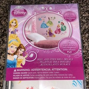 Disney Accents - Disney Princess Wall decals New in Box